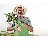 Harvest, Gardener, Celery, Gardening