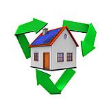 Ecologically, Sustainability, Solar House, Energy Plus-house, Eco Friendly House