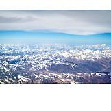 Luftaufnahme, Himalaya