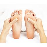 Fuß, Massieren, Fußmassage, Fußreflexzonenmassage