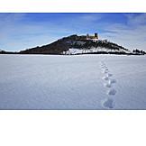 Winter, Thuringia, Wachsenburg