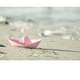 Beach, Summer, Paper Boats