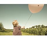 Girl, Enjoyment & Relaxation, Balloon