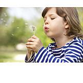 Boy, Dandelion, Blowing