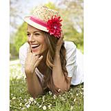 Woman, Enjoyment & Relaxation, Summer