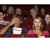 Media, Movie Theater, Audience, Scared, Camera Film, Scary, 3d