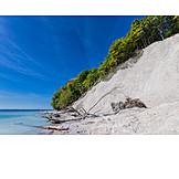 Rügen, Chalk rock, National park jasmund