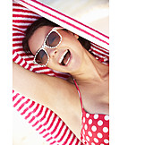 Young Woman, Laughing, Summer, Vacation