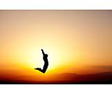 Springen, Lebensfreude, Athlet, Luftsprung