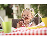 Child, Girl, Sweets, Smudged
