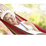 Frau, Seniorin, Sorglos & Entspannt, Pause & Auszeit
