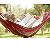 Leisure, Relaxation & Recreation, Reading, Hammock