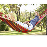Man, Relaxation & Recreation, Hammock, Siesta