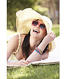 Young Woman, Woman, Enjoyment & Relaxation, Summer