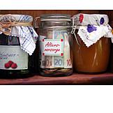 Altersvorsorge, Ersparnisse, Vorratsglas