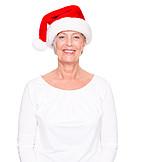 Senior, Santa hat, Christmas