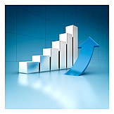 Economy, Stock Price, Diagram, Ascending, Bar Graph, Column Chart