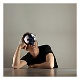 Man, Mask, Compound eye