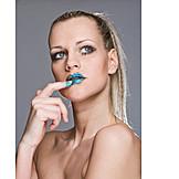 Beauty & Cosmetics, Beauty, Young Woman, Lipstick