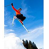 Jump, Skiers, Ski jumping, Freeskiing