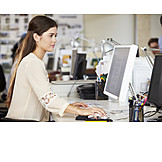 Young Woman, Office & Workplace, Workplace, Advertising Agency