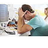 Young Man, Job & Profession, Stress & Struggle, Burnout