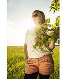 Young Woman, Woman, Sunlight, Summer