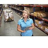 Logistik, Lagerhalle, Inventur, Versandhandel