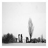 Winter, Cemetery, Death