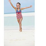 Girl, Holidays, Beach Holiday