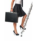 Business Woman, Career, Upward