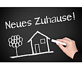 Zuhause, Umzug, Eigenheim