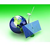 Ecologically, Solar Energy, Globe