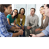 Besprechung & Unterhaltung, Gruppe, Unterhalten, Selbsthilfegruppe