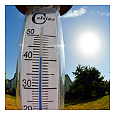 Summer, Heat, Thermometer