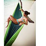 Holiday & Travel, Beach, Relax, Hammock, Dream Vacation