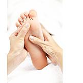 Fuß, Fußmassage, Akupressur