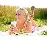 Young Woman, Enjoyment & Relaxation, Leisure, Summer