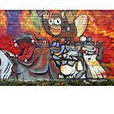 Graffiti, Mural, Streetart