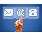 Kommunikation, Internet, Kontakt, Email