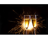 Sparkling, New Years Eve, Champagne Glass, Toast