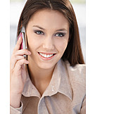 Business Woman, Mobile Phones, On The Phone