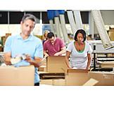 Logistik, Verpacken, Waren, Lageristin, Versandhandel