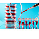 Research, Laboratory, Blood Sample, Micro Test Tube