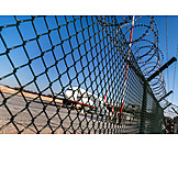 Security & Protection, Airport, Metal Fence