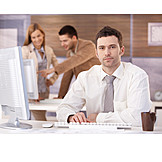 Young Man, Businessman, Business, Office & Workplace