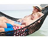 Pause & Auszeit, Schlafen, Badeurlaub, Strandurlaub, Hängematte, Familienurlaub