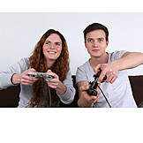 Couple, Fun & Games, Game Console, Video Game