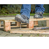 Security & Protection, Labor Protection, Work Boots, Work Accident