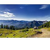 European alps, Mountain lodge